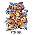 urban signs colorful abstract background vector image vector image