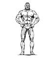 athletic man vector image