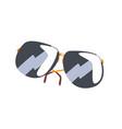 black sunglasses cartoon vector image