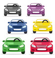 car convertible in different colors vector image