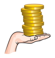 Earning money1 vector image