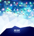festive blue background with luminous garlands vector image