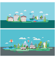 Flat design nature landscape vector image