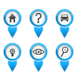 Map pointers with icons vector image