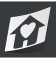 Monochrome beloved house sticker vector image