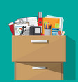 office furniture cabinet locker drawer vector image
