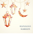 Ramadan greeting card design element vector image