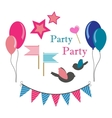 set of icons for party vector image