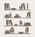 Simply retro books library on the shelf vector image