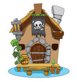 witches hut cartoon of a house sorceress drawing vector image