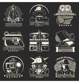 Detective Story Labels Set vector image
