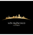 San Francisco California city skyline silhouette vector image vector image