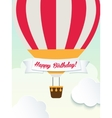 Happy birthday retro vintage balloons greeting vector image