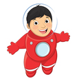 Of A Young Boy Astronaut Float vector image