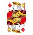 King of diamonds no card vector image vector image