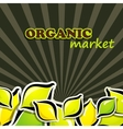 lemon organic food concept vector image