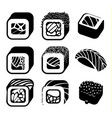 monochrome japanese food color cartoon style vector image