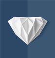 Origami Diamond vector image