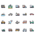 Transport Icons 2 vector image