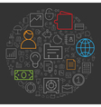 icons shape line business circle vector image vector image