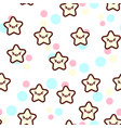 the cute stars with the vector image