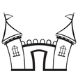 Icon castle vector image