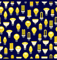 bright light bulbs seamless pattern vector image