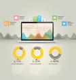 Infographics elements Computer laptop notebook c vector image