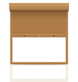 rolling shutters 10 vector image vector image