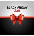 Black Friday Poster Sale with Ribbon and Bow Knot vector image vector image