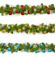 Christmas Borders Set 4 vector image
