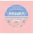 Hawaii Logo with Lettering vector image