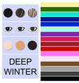 Stock seasonal color analysis palette vector image