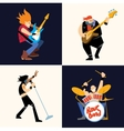 Rock band music group vector image