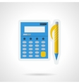 Accounting flat color icon vector image