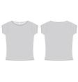 basic ladies tshirt template vector image