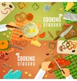 Cooking Classes Top View vector image