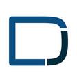 dj modern business letter logo design vector image
