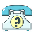 retro phone icon cartoon style vector image
