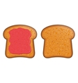 Toast with jam vector image