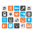 Flat Real Estate and building icons vector image
