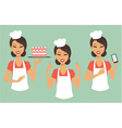girl confectioner vector image vector image