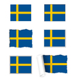 Sweden flag set vector image