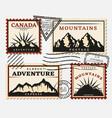 vintage postage stamps set vector image