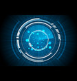 blue technology inside spaceship radar background vector image