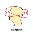 dizziness logo or icon template vector image