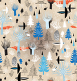Christmas texture winter forest vector image vector image