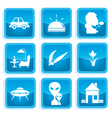 icons communication 3 vector image