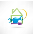 plumbing house painting house icon vector image