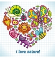 I love nature vector image